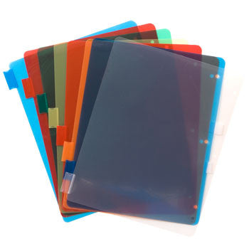Colorful Plastic Index Dividers, 8-ct. Pack