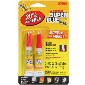 0.12-oz. Tubes of The Original Super Glue, 2-ct. Pack