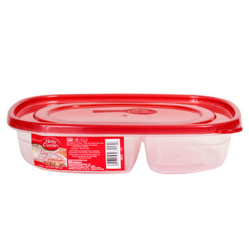 Betty Crocker Easy Seal Divided Storage Container with Lid, 32 oz.