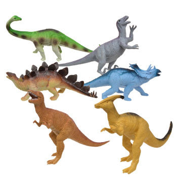 Plastic Toy Dinosaurs (Set of 6)