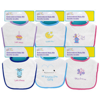 Angel of Mine Embroidered Baby Bibs