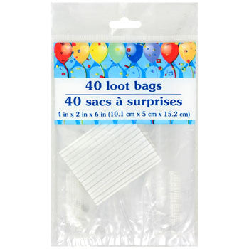 Clear Cello Loot Bags with Twist Ties, 40-ct. Pack