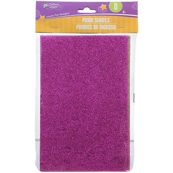 Crafters Square Glittery Foam Sheets, 8-ct. Packs