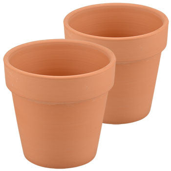 3.5-in. Terra-Cotta Clay Pots, 2-ct. Pack