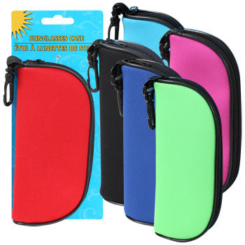 Soft Polyester Sunglasses Carrying Cases, 6.25 in.