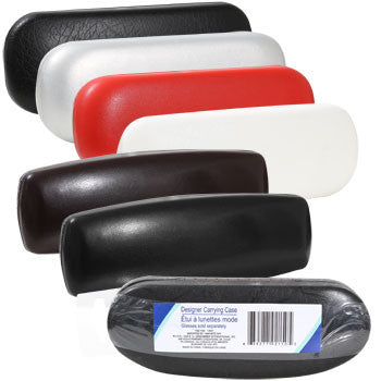 Designer Hard-Shell Faux Leather Eyeglass Carrying Cases (Set of 3)