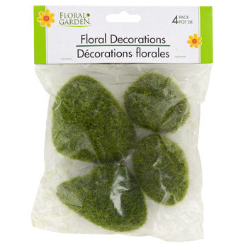 Floral Garden Artificial Moss Covered Rocks, 4-ct. Pack