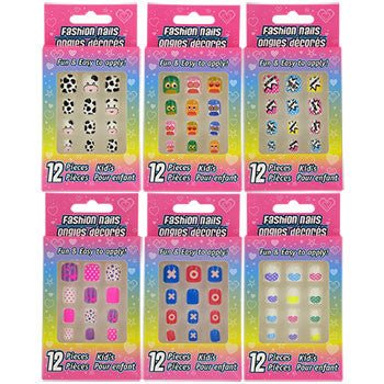 Kids' Plastic Press on Nail Sets (6 total)