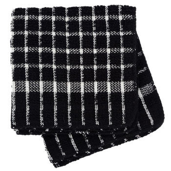 Black and White Checked Cotton Terry Dish Cloths, 2-ct. Pack