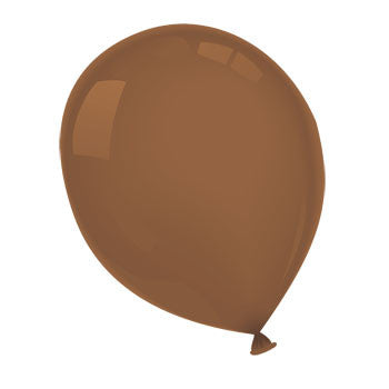 "Brown Latex Balloons, 12"", 15-ct. Pack"