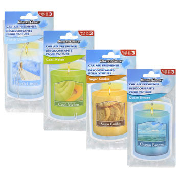 Automotive Air Fresheners in Scented Candle Styles, 3-ct. Pack