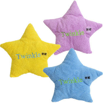Plush Star-Shaped Musical Pillows, 10 in.