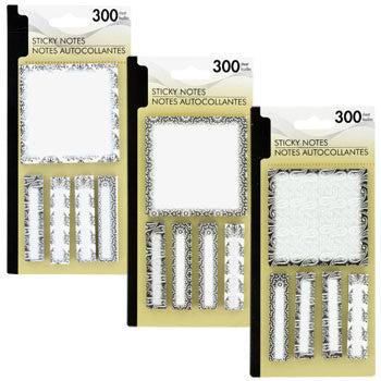 Fashion Sticky Note Pad and Tabs Sets, 300-ct. Pack