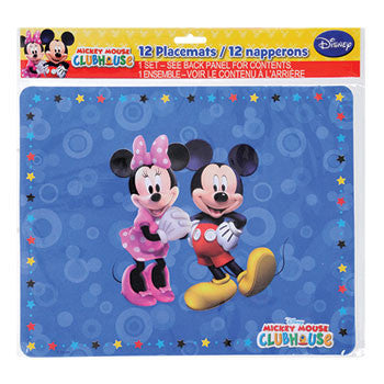 Disney Mickey Mouse Clubhouse Placemats, 12-ct. Pack