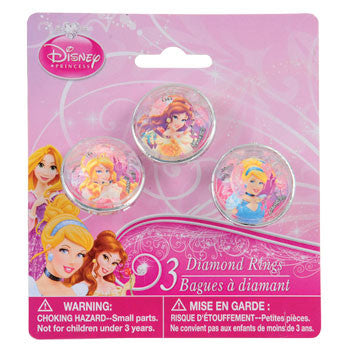 Disney Princess Jumbo Plastic Dress-Up Rings, 3-ct. Pack