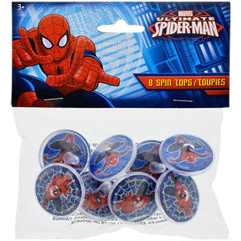 Marvel Ultimate Spider-Man Spin Tops, 8-ct. Pack