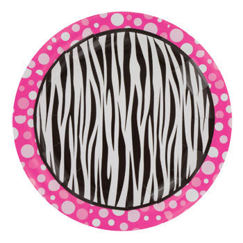 "Zebra Dots Paper Plates, 7"", 20-ct. Pack"