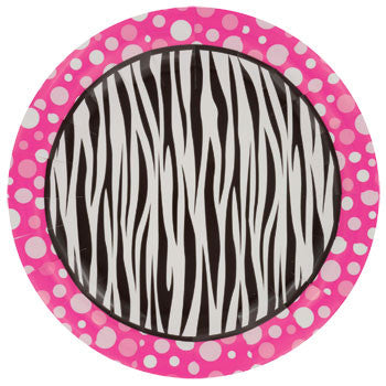"Zebra Dots Paper Dinner Plates, 9"", 18-ct. Pack"