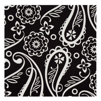 Black & White Paisley Paper Beverage Napkins, 24-ct. pack