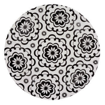 "Black & White Paisley Paper Plates, 7"", 20-ct. pack"