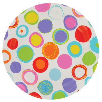 "Colorful Dots Paper Plates, 9"", 18-ct. Pack"