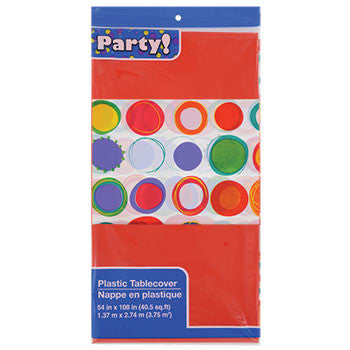 Colorful Dots Plastic Table Cover