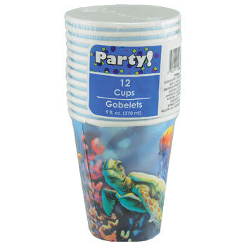 Ocean Life Paper Party Cups, 9-oz., 12-ct. Pack