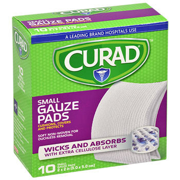 Curad Small Gauze Pads, 10-ct. Packs