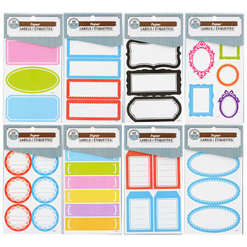 Assorted Self-Adhesive Paper Labels