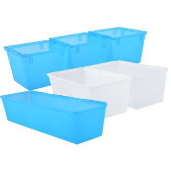 Assorted Plastic Drawer Organizers