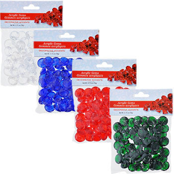 Decorative Acrylic Gems, 2.75-oz. Pack