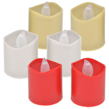 Battery-Operated LED White Votive Candles, 2-ct. Packs