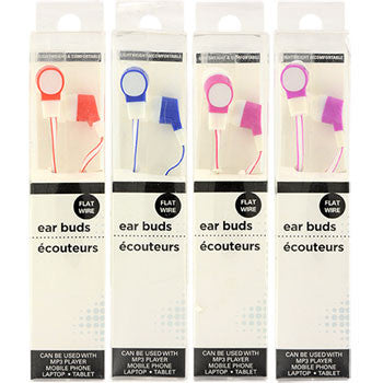 Colorful Flat Wire Fashion Earbuds