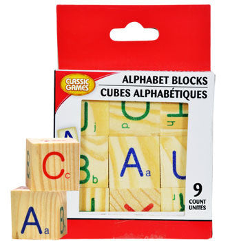 Alphabet Wood Blocks, 9-pc. Set