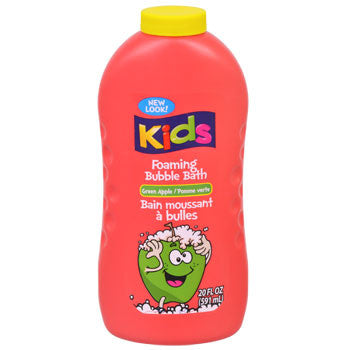 Kids Foaming Bubble Bath in Green Apple Scent, 20-oz. Bottle