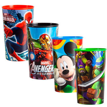 Five Assorted Licensed Character Cups, 22 oz. (Set of 5)