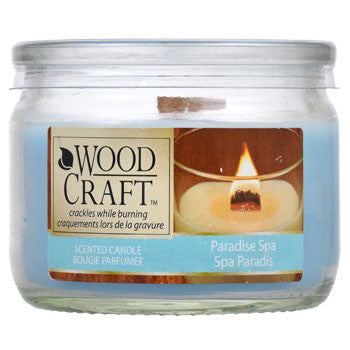 Wood Craft Paradise Spa Scented Glass Jar Candles