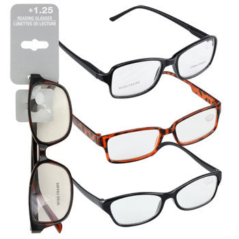 Fashion Reading Glasses with +1.25 Diopters (Set of 3)