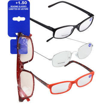 Fashion Reading Glasses with +1.50 Diopters (Set of 3)