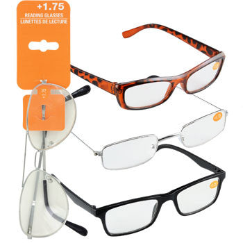 Fashion Reading Glasses with +1.75 Diopters (Set of 3)