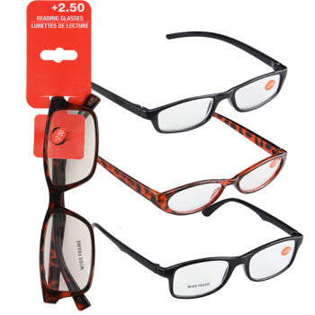 Fashion Reading Glasses with +2.50 Diopters (Set of 3)