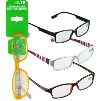 Fashion Reading Glasses with +2.75 Diopters (Set of 3)