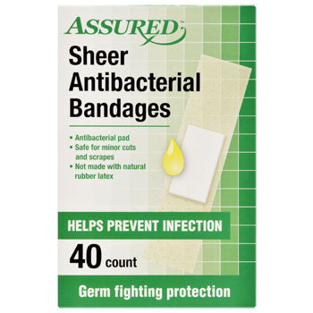 Assured Antibacterial Bandages, 40-ct. Box