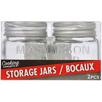 "Cooking Concepts ""Mason Jar"" Glass Spice Jars, 2-ct. Packs"
