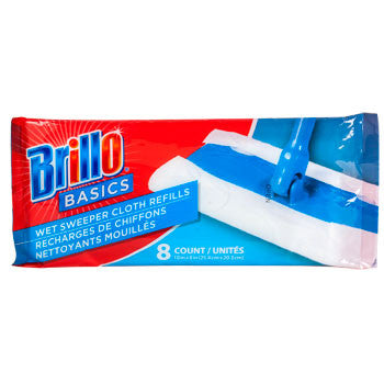 Brillo Basics Wet Sweeper Cloths Refills, 8-ct. Pack