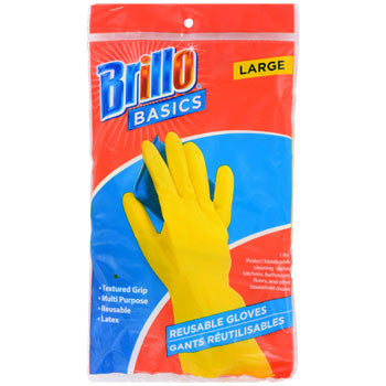 Brillo Basics Long-Cuff Reusable Large Latex Glove