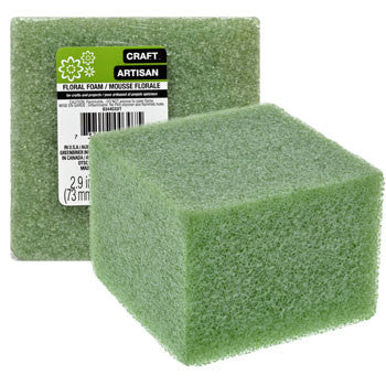 Floral Craft Green Foam Block, 3x4 in.
