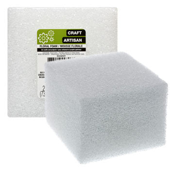 Floral Craft White Foam Block, 3x4 in.