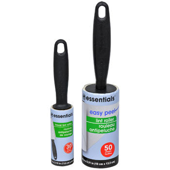 Essentials Easy-Peel Lint Roller with Travel-Size Bonus