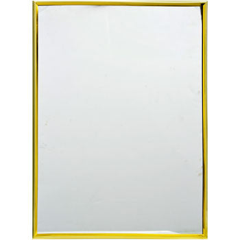 Decorative Mirror with Gold-Plastic Frame, 14x10¾""